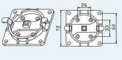 FIXATION RAPIDE MO5 AVEC Q10 EN PLASTIQUE MAX 20NM
