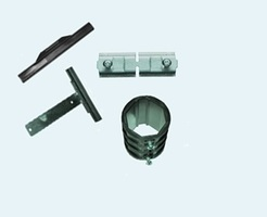 Accessoires d'attache du tablier sur l'axe